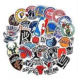 WH MaiYY Adesivo Nba Squadra Basket Logo Segno Icona Palla Emblema Stella Adesivo Valigia Bagagli Adesivi Impermeabili