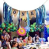ZZBM Die Erste Geburtstags Dekorationen, Das Erste Geburtstag Banner für Den Kleinen Jungen, Gefertigt aus Leinen,Zum Aufhängen für Den Ersten Geburtstag ,Herrliche Dekorationen