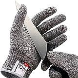 Schnittschutz Handschuhe Schnittfeste Küchehandschuhe Leistungsfähiger Level 5 Schutz CE für Küche Baustelle Gartenbau Schutzhandschuhe Einsatzhandschuhe 1 Paar (XL)