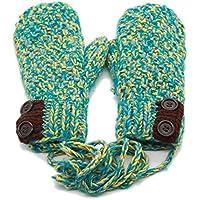 ajunt de en invierno niña jinete cuellos de sus también Guantes calientes lana tejer guantes. Guantes fríos, b