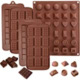 5 Pack Chocolate Bar Molds,Ausplua Silicone Chocolate mold Candy Jelly Cake Baking Mould,Break-Apart Chocolate, Food Grade No