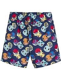Pokèmon Pantalones Cortos Pantalones Cortos De Natación para Niños con Pikachu Y Pokeballs | Ropa para Niños En Tamaño 5 A 14 Años | Trajes De Natación para Niños