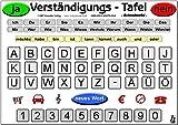 Verständigungs-Tafel - Schreibtafel (laminiert) -