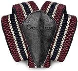 Decalen Hosenträger für Herren breit extra starken Clips Y Form Lang Eine Größe Passt Alle Männer und Damen Verschiedenen Farben (Maroon Beige Marineblau)