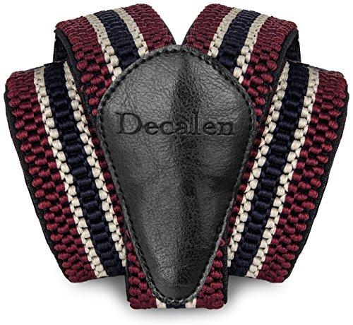 Decalen Hosenträger für Herren breit extra starken Clips Y Form Lang Eine Größe Passt Alle Männer und Damen Verschiedenen Farben (Maroon Beige Marineblau) -