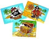 German Trendseller 4 x Piraten Puzzle ┃ Jiggy ┃ Piraten Party ┃Seeräuber┃Kindergeburtstag …
