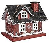 LED Holzhaus Weihnachtshaus Major Haus Rot Teelicht Batteriebetrieb ca. 12 x 14,5 x 11 cm (HxBxT)