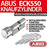 ABUS, cilindro della manopola, cilindro della porta EC550 EC 550, chiusura diversa, includeCodice carta ToniTec