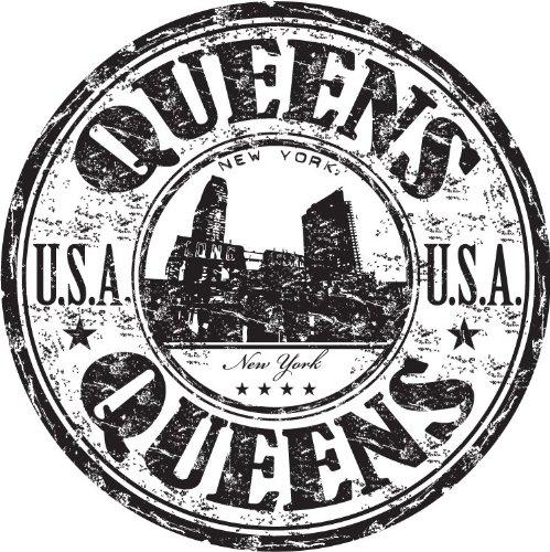 Queens City New York USA United States Travel Grunge Stamp Hochwertigen Auto-Autoaufkleber 12 x 12 cm (City Tiere Queen)