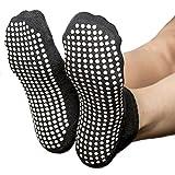 Skyba Anti Rutsch Socken Stoppersocken Noppensocken für Damen- Grips für Barre, Pilates, Yoga, Schwangerschaft- (3 Größen)