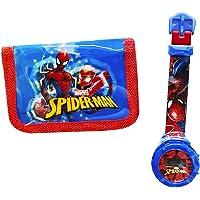 Orologio digitale Spiderman + portafoglio stampato Spiderman. Il regalo ideale per bambini. Orologi per bambini a…