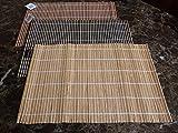 Bambus-Tischsets - große Servier- und Tischmatten zum Aufrollen, 30 x 44,5 cm, (natürlich)