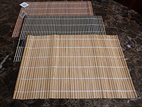 Bambou Sets de table Sets de table Grande salle à manger de service Roll Up Tapis 30 cm x 44.5 cm (Brownl)