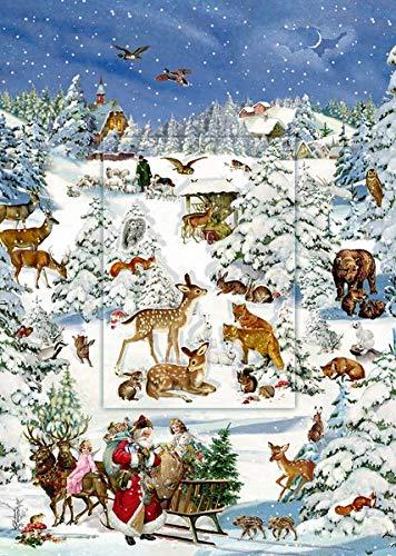 A4-Wandkalender - Tiere in Schneelandschaft