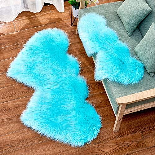 DHHY Moderne Minimalistische Liebe Teppich Langen Samtboden Schlafzimmer Wohnzimmer Fußmatte Dekoration Q 60X120 cm
