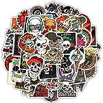 Zorux - 50 PCS Skeleton Sticker Ghost Skull Punk Rock Motorcycle Scrapbooking Stickers to DIY Laptop Skateboard Luggage Guitar Bicycle