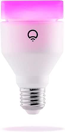 LIFX E27 Lampadina a LED Wi-Fi Smart, Regolabile, Multicolor, Dimmerabile, non Richiede un Hub, Funziona con Alexa, Apple HomeKit e Google Assistant, Bianco, Set da 1, LHA19E27UC10