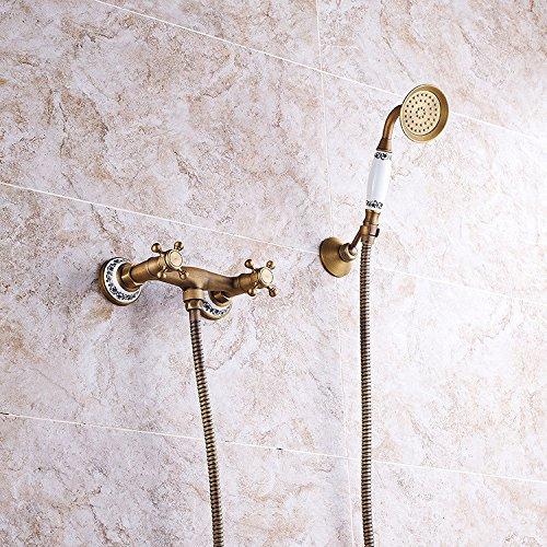 mural salle de bains robinet de en alliage chrome robinet de douche Robinet de douche-KATE robinet de douche robinet de la baignoire salle de bains M/élangeur de douche eau chaude et froide Valve