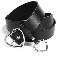 Lvcky - Elegante cintura in pelle da donna, stile casual, con fibbia ad ardiglione in lega metallica, da abbinare a…