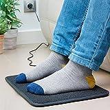 Elektrischer Heizteppich – elektrischer Fußwärmer | Ideal, um ihre Füße an kalten Wintertagen warm zu halten | Sorgt für angenehme und behagliche Wärme - 3