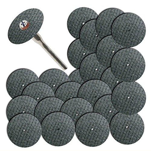 25pcs double net superficie mola di fibra di vetro taglio piatto disco abrasivo mole abrasive