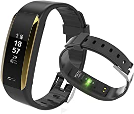 Fitness Tracker, KINGBERWI Heart Rate Monitor Activity Tracker, IP67 Waterproof Smart Bracelet Bluetooth Wristband Blood Pressure Watch with Sleep Monitor for Kids Girls Men Android...