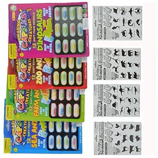 4ST-Neuheit-Gadget-Multicolor-erstaunliche-Kapsel-Kreaturen-legen-geflschte-Tier-Spielzeug-Trick-Witz-Tool
