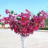 BAIXUE Künstliche Blume Dekorative Seide Gefälschte Blumen Bougainvillea Künstliche Blume Zweig Für Hochzeit Dekoration Arch Hotel Decor 118 cm - Rose Red