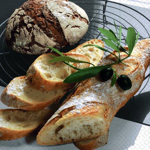 20 Servietten Fresh Bread - Frisches Brot / Essen / Frühstück / Brunch 33x33cm