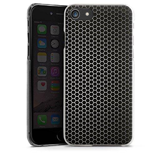 Apple iPhone X Silikon Hülle Case Schutzhülle Muster Schwarz Metal look Hard Case transparent