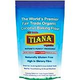 TIANA Fair Trade Organics Premium All-Purpose Cassava Flour Gluten Free for Baking - 500g (Pack of 3)
