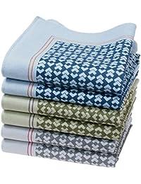 """6 pañuelos para hombre - 100% algodón - Modelo """"Muisca"""""""