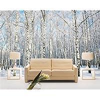 ShAH Foto 3D Wallpaper Winter Wald Schnee Landschaft Birke Natur Landschaft  Wandbild Dekoration Wallpaper Für Wände