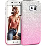 Coque Samsung Galaxy S6 Edge, Paillette Pink Shading, TheBlingZ.® Housse Etui Protection Brillante Paillette Case pour Samsung Galaxy S6 Edge - Pink Shading