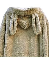 ZKOO Mujer Invierno Chaqueta Mullido Cremallera Sudaderas Con Capucha Encapuchado Abrigos Outwear Cálido