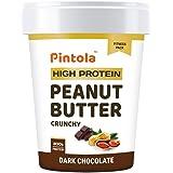 Pintola HIGH Protein Peanut Butter (DARK Chocolate) (Crunchy, 1kg) | 30% Protein | High Fibre | NO Salt
