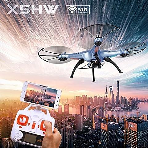 Syma X5HW-I Wifi FPV RC Drone con Video macchina fotografica WayIn® 2.4Ghz 4CH RC Quadcopter senza testa con funzione Altezza attesa Blu
