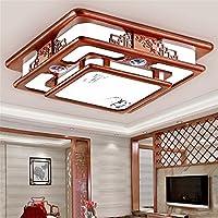 Lilamins Hohe Decke Licht Rechteckig Antik Holz Lampe Wohnzimmer Schlafzimmer Leuchte Halle Zimmer