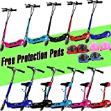 New 2017 Electric E Scooter Ride on Rechargeable Battery Removable Seat Kids Toys Ride On Cars 120W 24V Scooters +Free Protection Pads