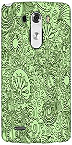 Snoogg Fabric Pattern Light Green Designer Protective Back Case Cover For LG G3