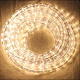 HJ® 10m LED Lichtschlauch Lichterkette Lichterschlauch Fensterbeleuchtung Dekolicht für Außen&Innen Dekoration Weihnachten Hochzeit Warmweiß