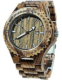Reloj de Madera, TOPQSC Reloj de pulsera Natural Colorido de bambú, Reloj de Cuarzo Analógico Super Ligero ,100% Hecho a Mano ,Reloje de Madera para hombres chicos