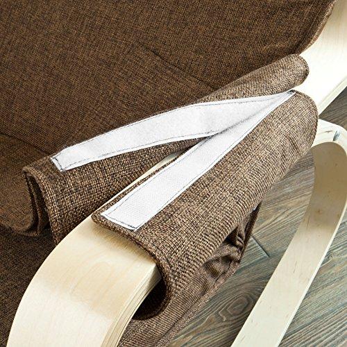 Stillstuhl SoBuy mit Tasche und verstellbarem Fußteil in beige - 8