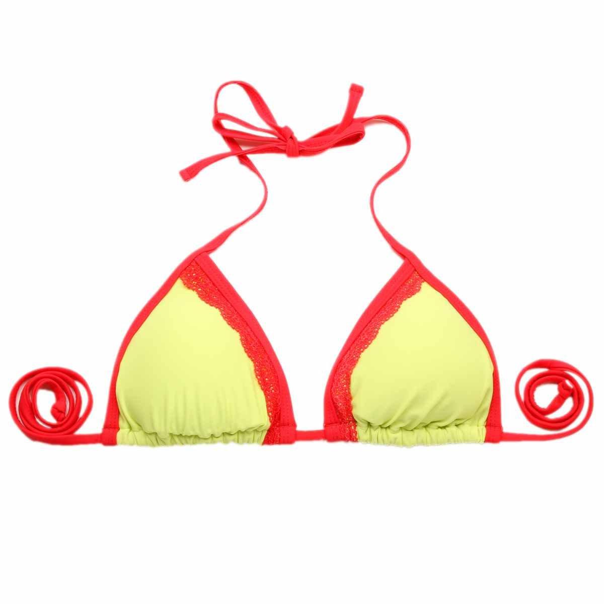 Colloyes donna giallo bikini costumi da bagno Costume da bagno Costume da bagno a fascia superiore