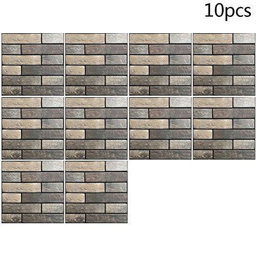 3d impermeabile autoadesivo piastrelle adesivo murale, adesivi da parete per cucina bagno piastrelle adesivi mosaico
