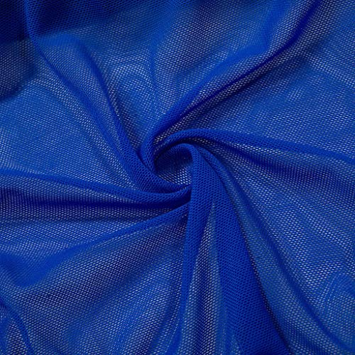 HCFKJ Dessous Damen Sexy Erotik Einfarbig Lace Lingerie Pyjamas Wireless Pyjamas Frauen Silk Satin Sleepwear Reizwäsche Blau,L - 6