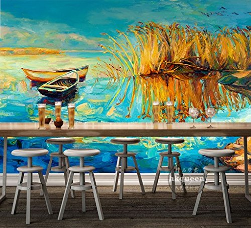 HUANGYAHUI Wandbilder Europäische Reed Sümpfe Tv Hintergrund Wallpaper Wohnzimmer Schlafzimmer Wandbilder Sofa Film Wall Murals