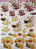 3D Bogen Kuchen Le Suh A4 basteln Scrapbook Stanzbogen Deko