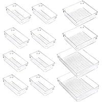 ACCEVO 12 pièces organisateur de tiroir de maquillage transparent, boîte de rangement de tiroir en plastique…