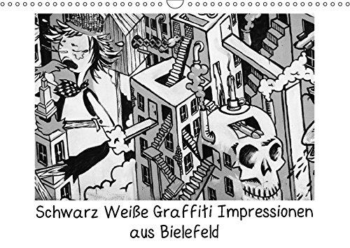 Schwarz Weiße Graffiti Impressionen aus Bielefeld (Wandkalender 2017 DIN A3 quer): Außergewöhnliche Graffitis in Schwarz Weiß (Monatskalender, 14 Seiten) por Kurt Schwarzer